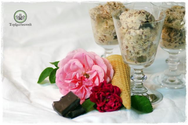 Rezept gelingsicheres Stracciatella-Eis für Eismaschine mit Kompressor - Foodblog Topfgartenwelt