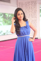 Divya Nandini stunning Beauty in blue Dress at Trendz Exhibition Launch ~  Celebrities Galleries 083.JPG