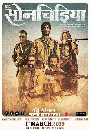 Poster Of Hindi Movie Sonchiriya 2019 Full FHD Movie Free Download 1080P Watch Online