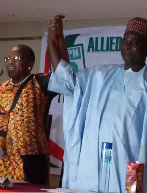 News In Pictures: Presidential Candidate, Oby Ezekwesili Shows Off Running Mate In Ilorin