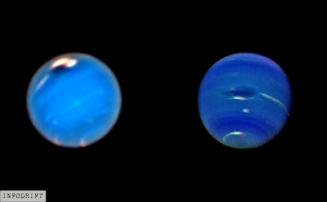 "Neptune facts: Neptune's recent ""Dark Spots""...observed by Hubble telescope"