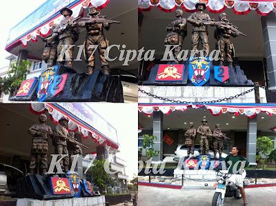 Patung Pasukan Intai Amfibi Marinir