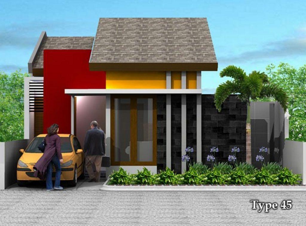 Contoh Rumah Sederhan Type 45 Minimalis Modern