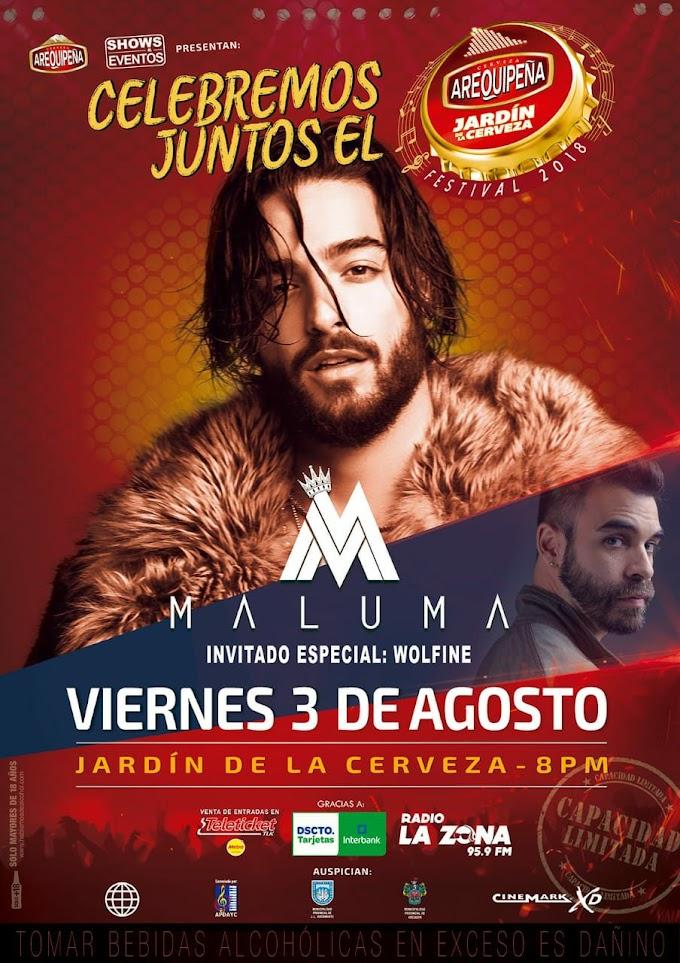 Maluma en el Jardín de la Cerveza Arequipeña 2018, Cancelado