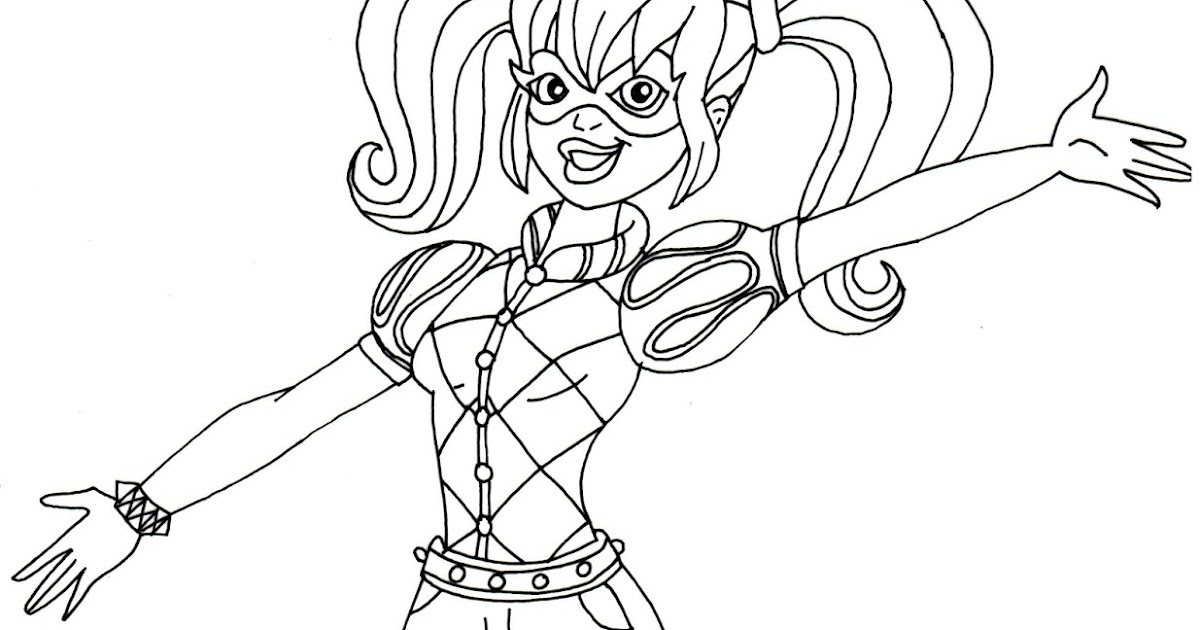 free printable super hero high coloring pages harley quinn super hero high coloring page - Harley Quinn Coloring Pages
