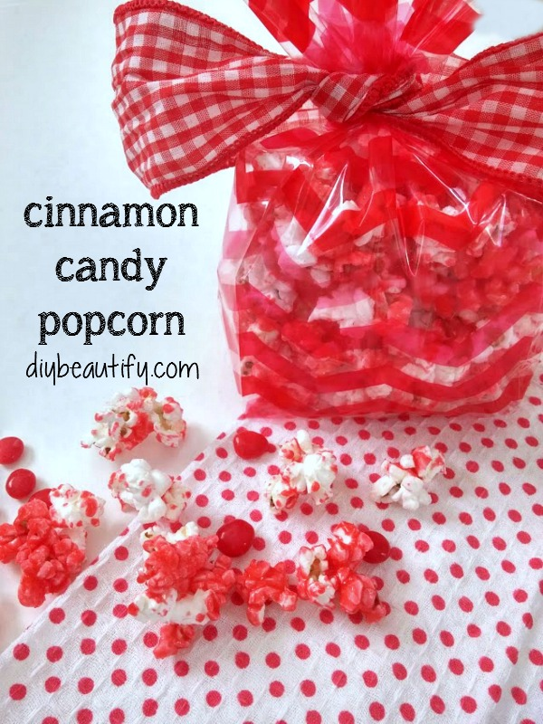 cinnamon candy popcorn recipe DIY beautify