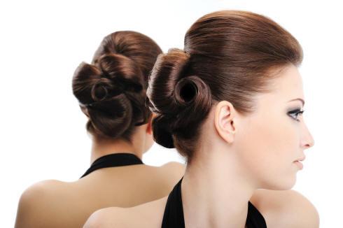 Audrey hepburn french twist hairstyle think
