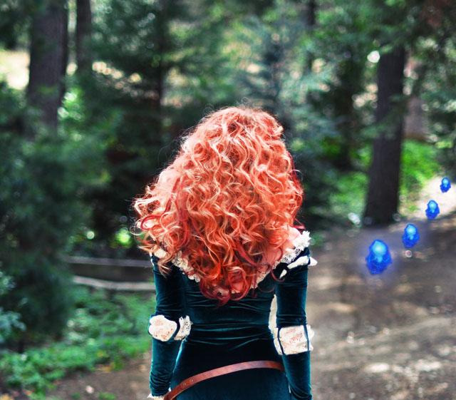 DIY Princess Merida of Brave hair and makeup tutorial costume