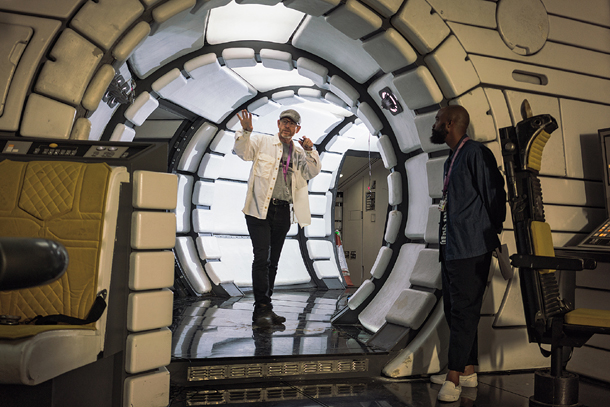 Ron Howard Inside The Millennium Falcon.