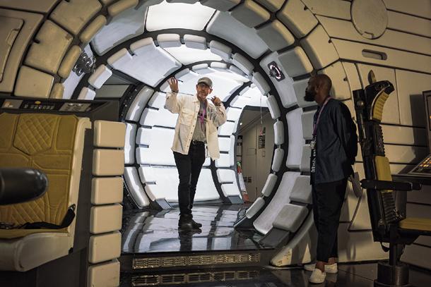 Ron Howard Inside The Millennium Falcon.