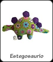 Estegosaurio de flor africana