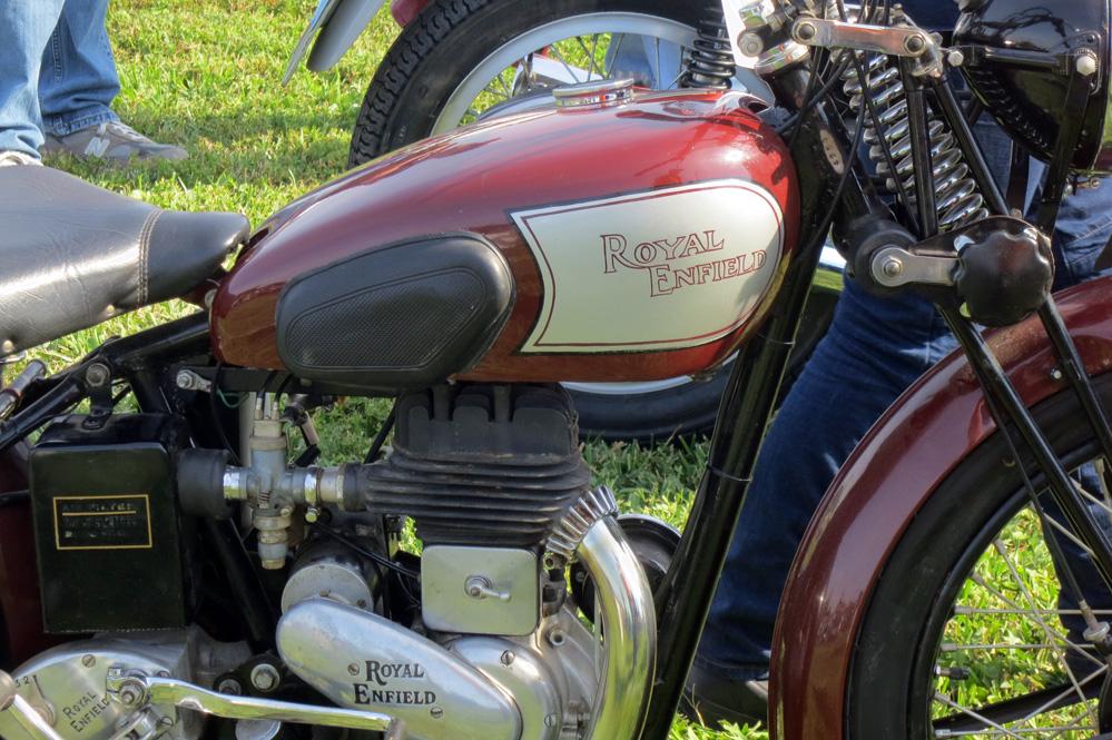 Royal Enfield motor.