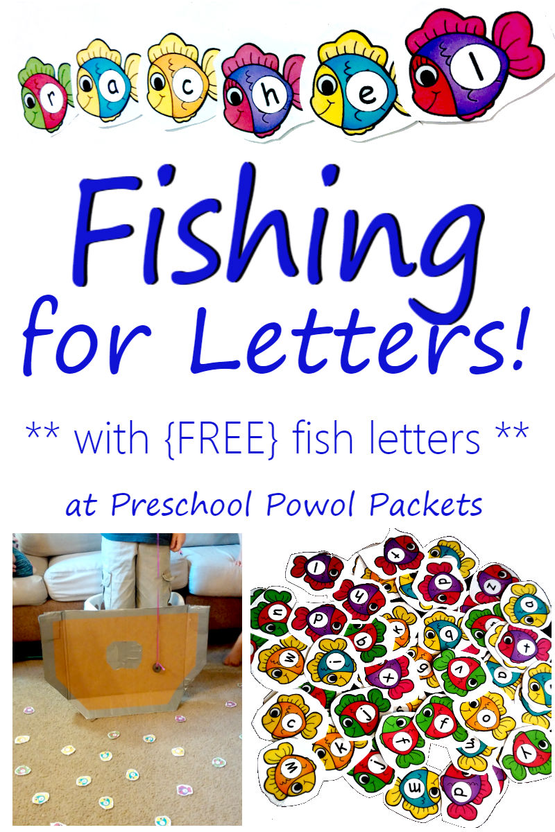 Fishing For Letters With Free Fish Letters Sight Words