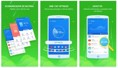 celular com aplicativo de bateria