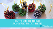 How to make eco-friendly xmas baubles for just pennies