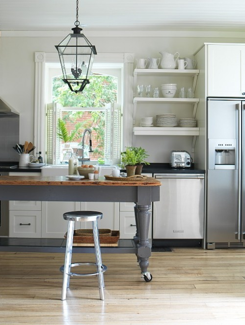 Heir and Space: Kitchen. Gorgeous Black desk With Minimalist Styles as kitchen island desk Kitchen. Gorgeous Black desk With Minimalist Styles - Kitchen Island Table