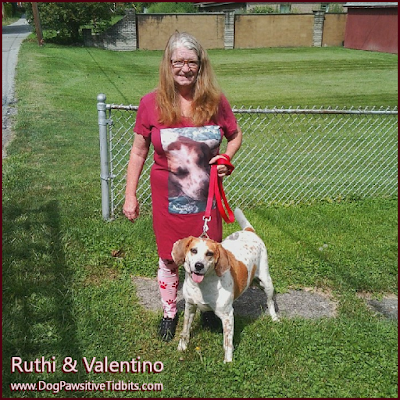 Ruthi and Valentino of Dog Pawsitive Tidbits