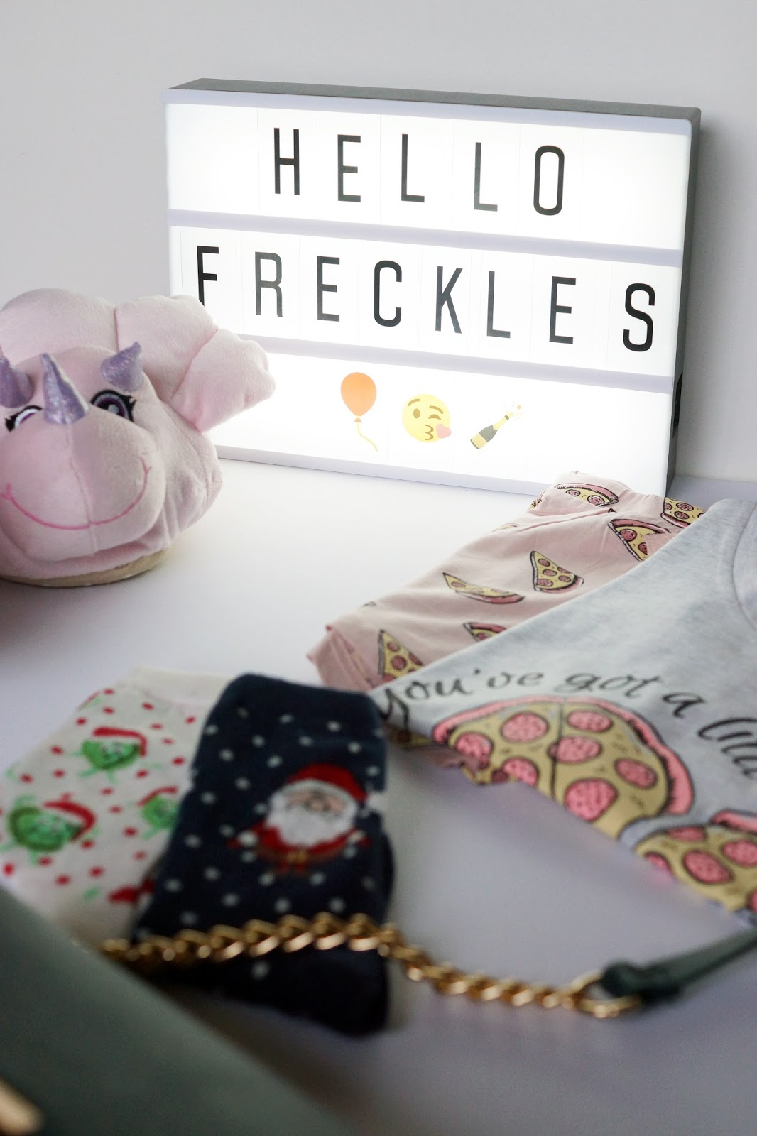 Hello Freckles Christmas Gifts with New Look Festive