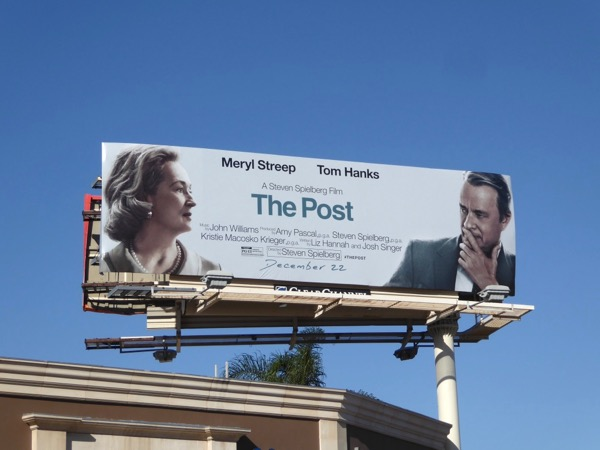 The Post movie billboard