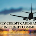 Only cash and credit cards in IN FLIGHT Commerce