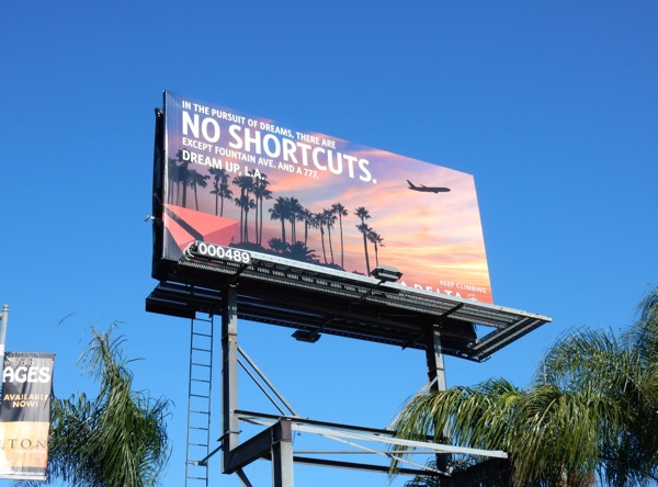 no shortcuts Delta billboard