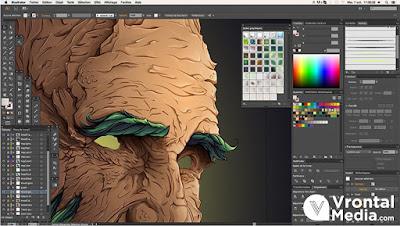 Tampilan Adobe Illustrator - macam macam software desain grafis