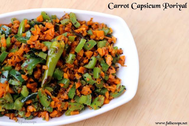 Carrot Capsicum Poriyal