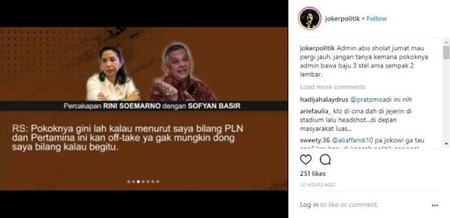 KPK Harus Usut Dugaan Bagi-Bagi Fee Antara Rini Soemarno dan Sofyan Basir