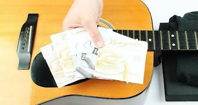 Memilih sebuah senar gitar yang akan dipasang