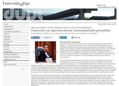 Olga Casal. Consultora y docente en Protocolo, Comunicación y Organziación de Eventos