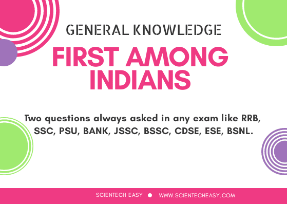 First among Indians Objective Questions, First among Indians MCQ, First among Indians,india,first in india.