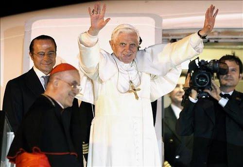 Despedida de Su Santidad El Papa, en el Aeropuerto de Barajas