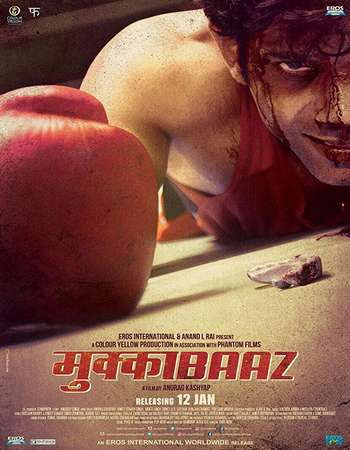 Poster Of Hindi Movie Mukkabaaz 2018 Full HD Movie Free Download 700MB Watch Online