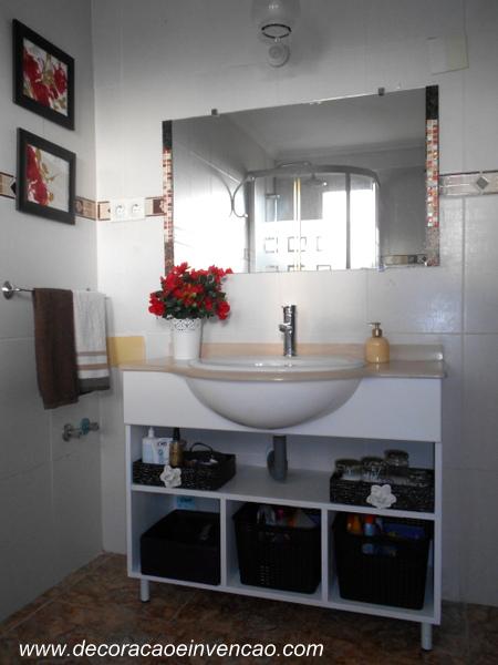 Armário de banheiro  DIY  Decoração e Invenção -> Fazer Armario De Banheiro