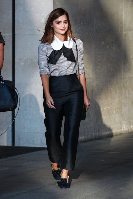 Jenna Coleman at BBC Broadcasting House in London