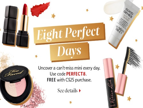 Sephora Eight Perfect Day Free Samples Promo Code