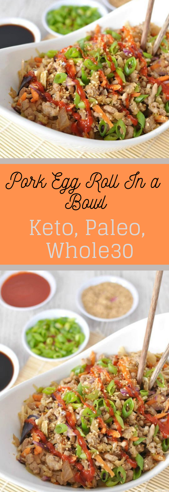 LOW CARB PORK EGG ROLL IN A BOWL (CRACK SLAW) #diet #bowl