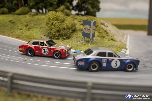 AFX FORD Escort Slotcar Custom h0 Alan Mann Nürburgring 1968