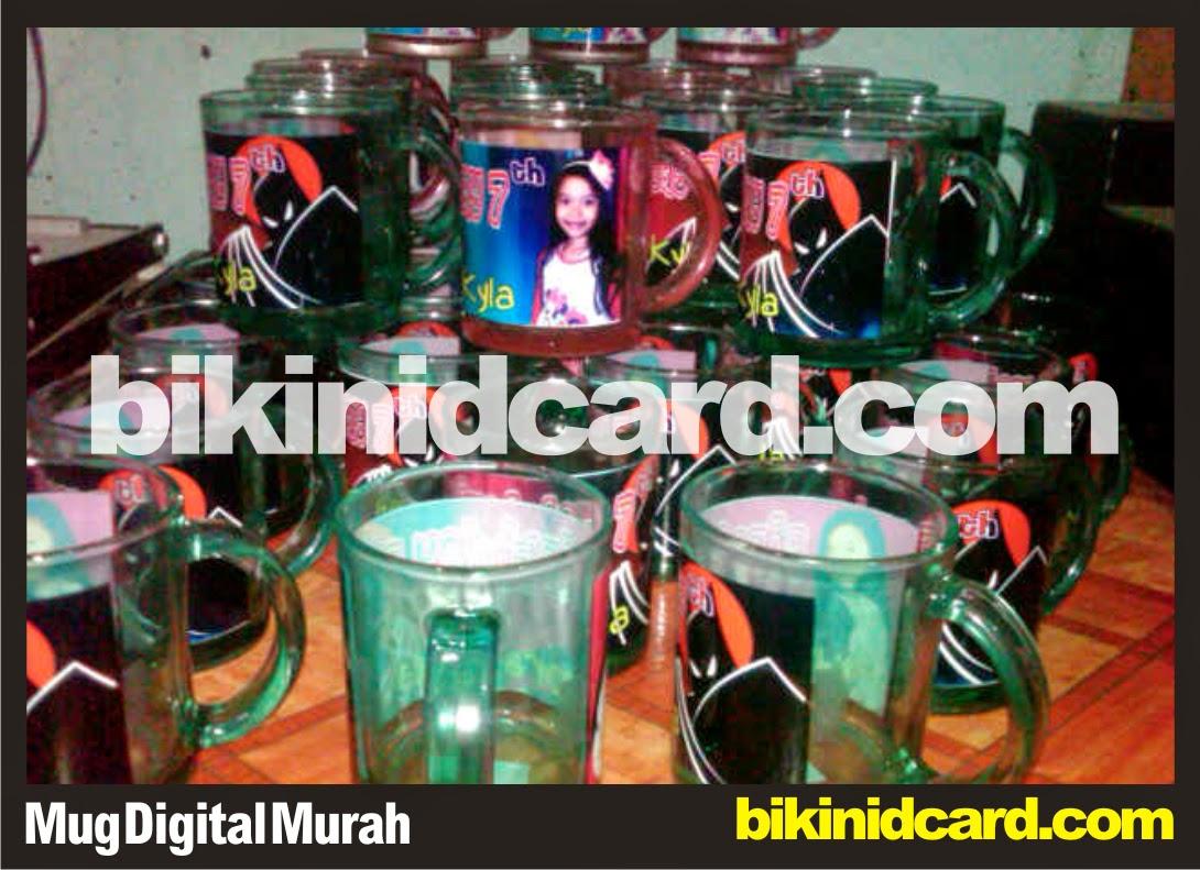 cetak mug digital murah bening warna
