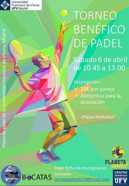 Torneo de Pádel Benéfico a favor de la Asociación Bocatas en la Universidad Francisco de Vitoria (Madrid)
