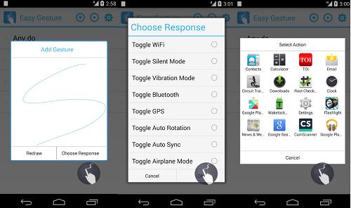 تطبيق Quickify لفتح أي شئ على الهاتف عن طريق الرسم