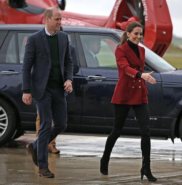 Oficjalna wizyta księcia i księżnej Cambridge w Północnej Walii