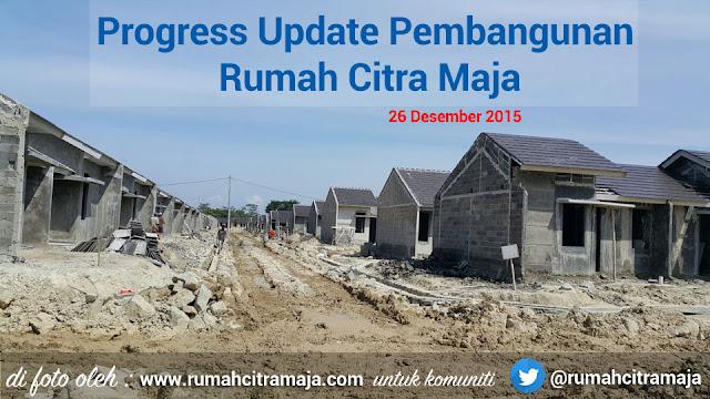 Foto progres pembangunan rumah Citra Maja Raya