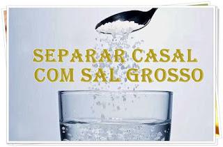 sal grosso na água