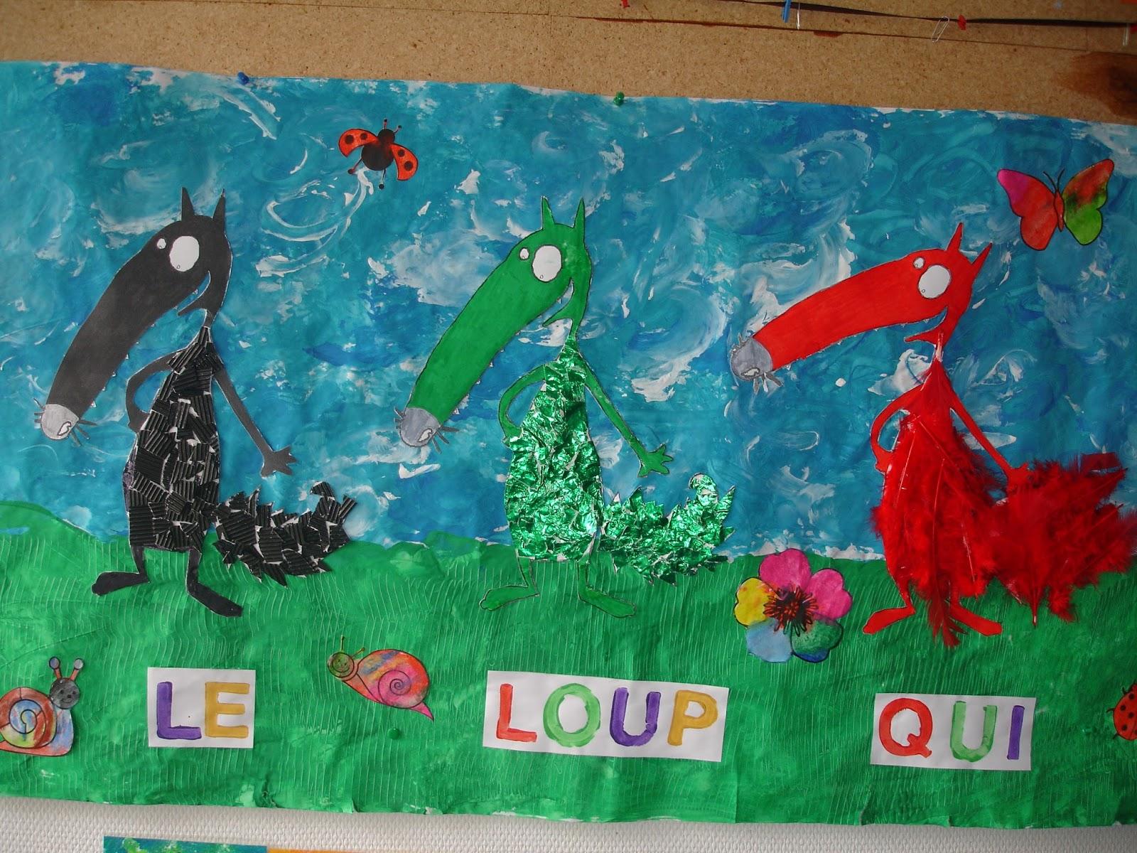 ecole-villers-bocage: Le loup qui voulait changer de couleur