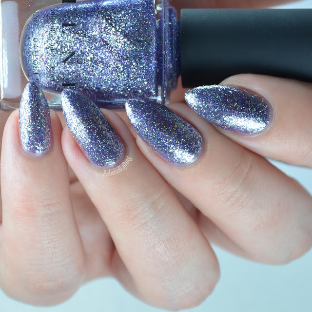 purple metallic nail polish