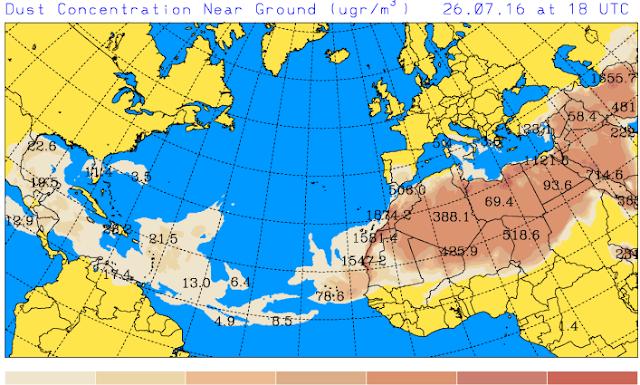 Calima y calor en Canarias, martes 26 julio