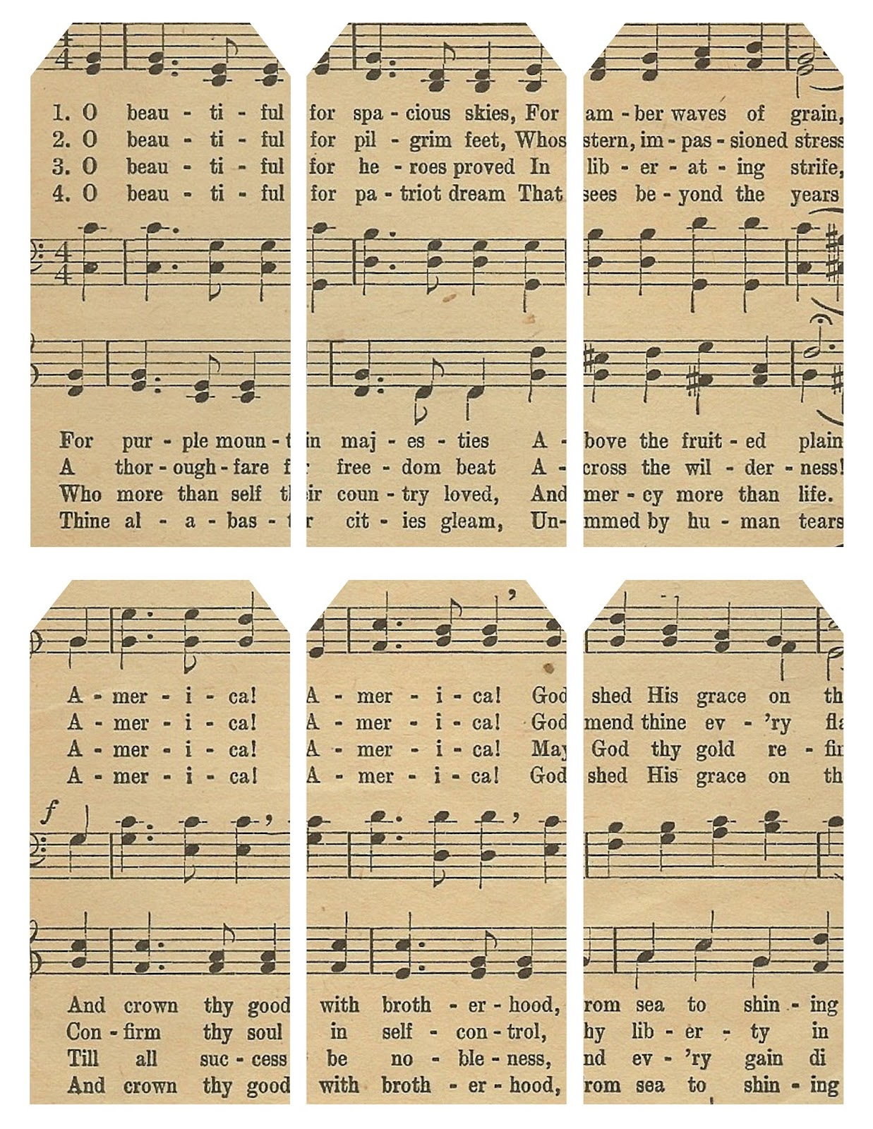 Lilac lavender flag of the free printable sheet of tags featuring lyrics to america the beautiful and 85 x 11 sheet music ive scanned and partially restored negle Image collections