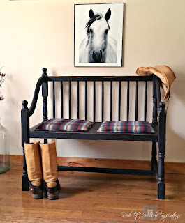 country style bench makeover