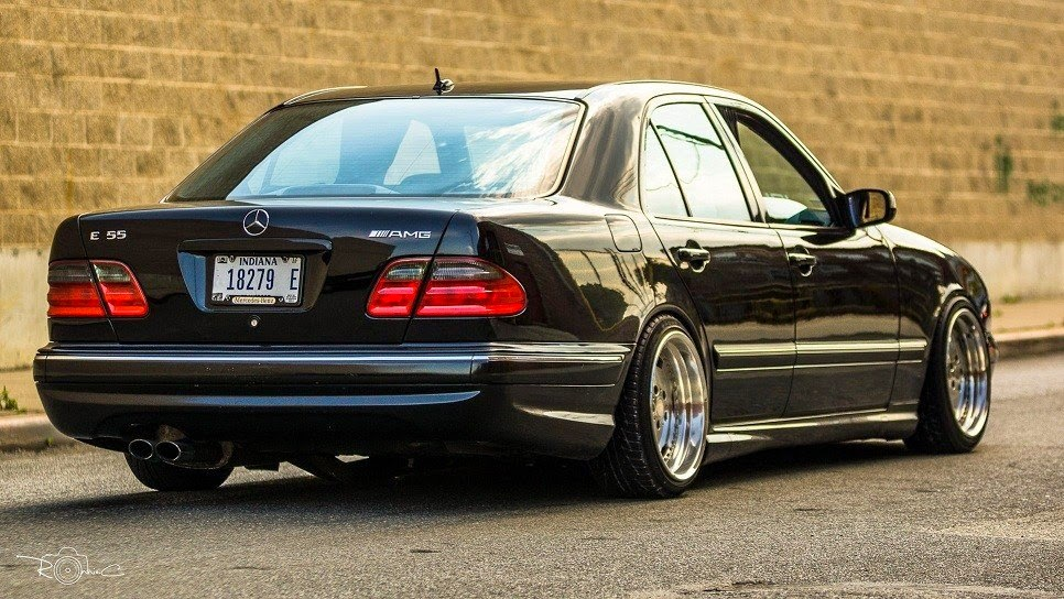 mercedes benz w210 e55 amg stance style benztuning. Black Bedroom Furniture Sets. Home Design Ideas